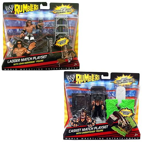 WWE  Rumblers Figure With Accessory  Case