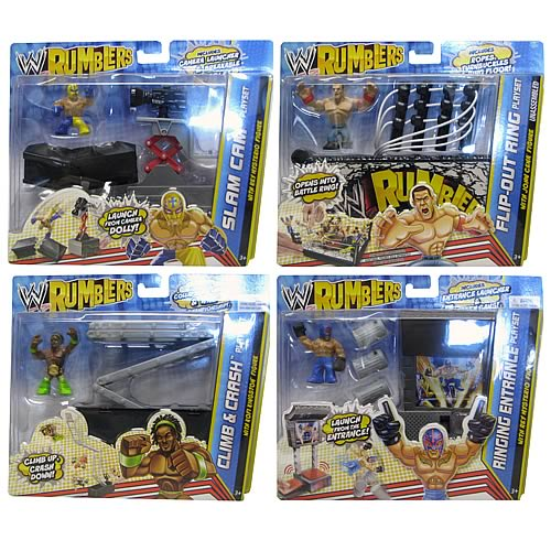 WWE Rumblers Mini-Figure with Accessory Wave 3 Case