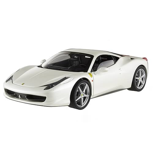 Hot Wheels Elite 458 Italia White Pearl Owned By F. Alonso