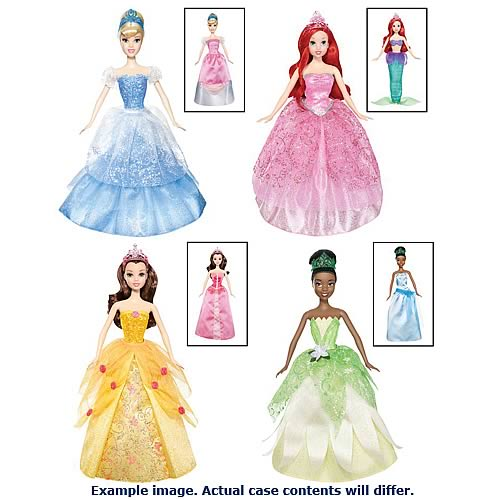 Disney Princess 2 in 1 Ballgown Surprise Doll Case