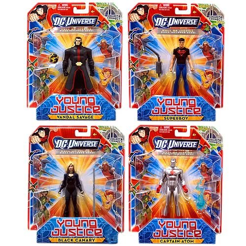 Young Justice 4 1/4-Inch Singles Action Figure Wave 2 Case