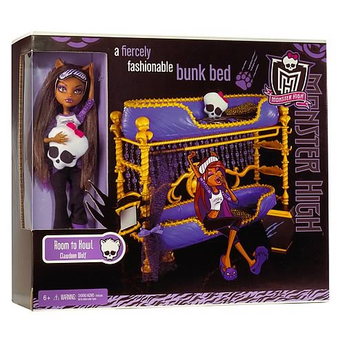 Monster high clawdeen wolf room to howl playset mattel - Clawdeen wolf pyjama party ...
