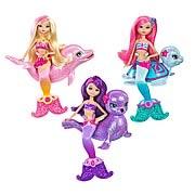Barbie Mermaid Tale 2 Mermaid and Pet Mini Doll Set Case
