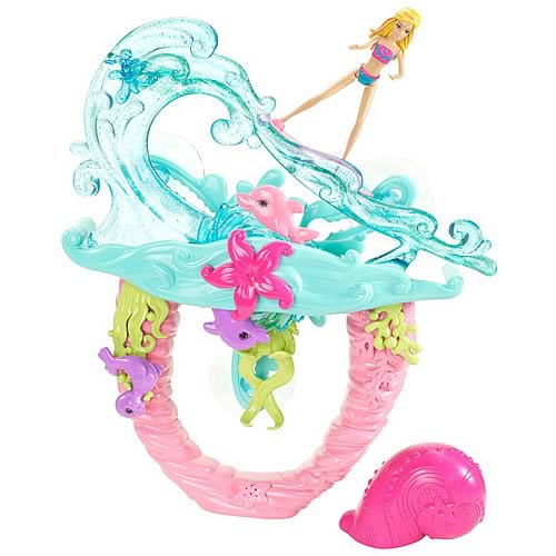 Barbie Mermaid Tale 2 Surf To Sea Bath Playset