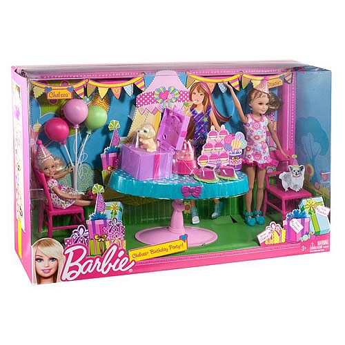 Barbie Chelsea and Stacie Birthday Dolls Set