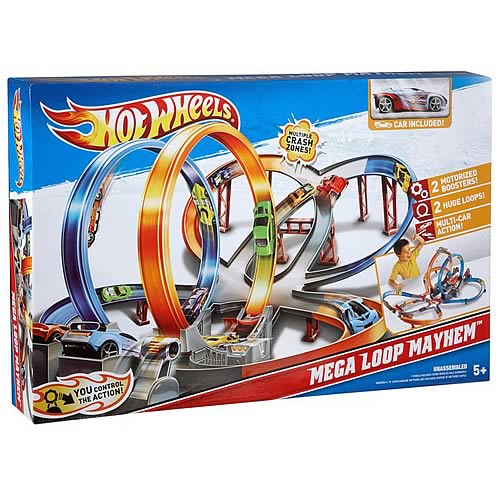 Hot Wheels Mega Loop Mayhem Playset