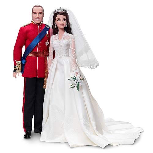 Barbie Royal Wedding William and Kate 2-Pack Doll Gift Set