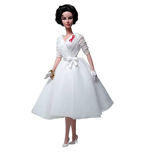 Elizabeth Taylor White Diamonds Silkstone Barbie Doll