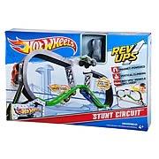 Hot Wheels Rev Up Stunt Circuit Track Playset
