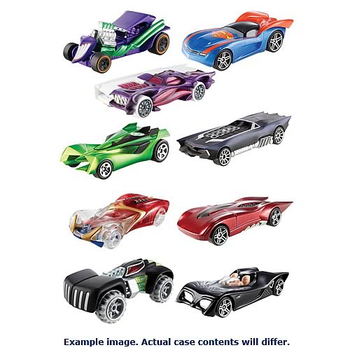 DC Universe Hot Wheels Vehicles Wave 4 Case