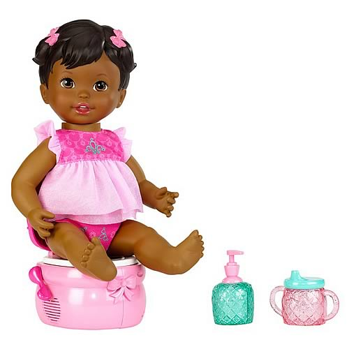 Little Mommy Princess Potty African American Doll