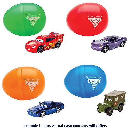 Cars Easter Theme Die-Cast Vehicles Case