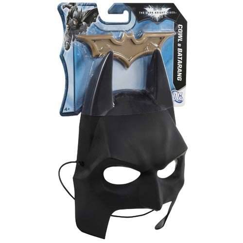Batman Dark Knight Rises Cowl Mask and Batarang Gear