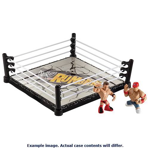 WWE Rumblers Ring and Figures Playset Case