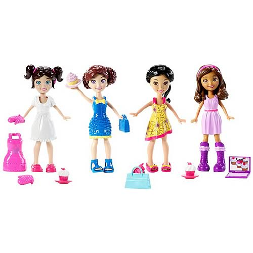 Polly Pocket and Friends Dolls 4-Pack
