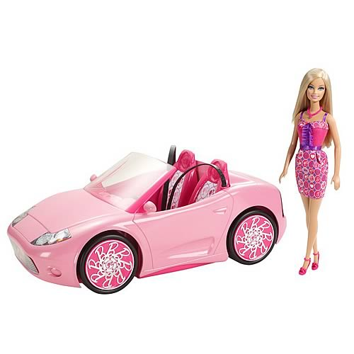 Barbie Glam Convertible Car and Doll Vehicle