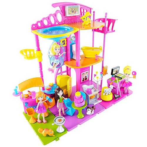 Polly Pocket Stick and Play Room Playset Case