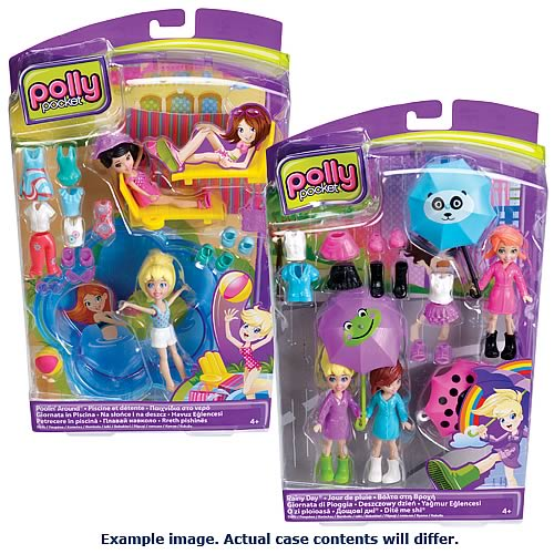 Polly Pocket Rainy Day and Poolin' Around Dolls Case