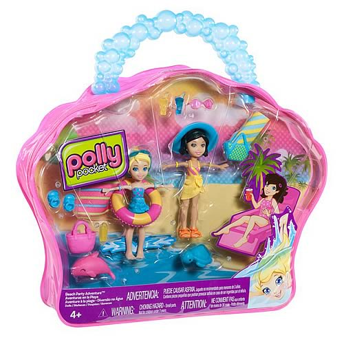 Polly Pocket Beach Party Adventure Dolls Case