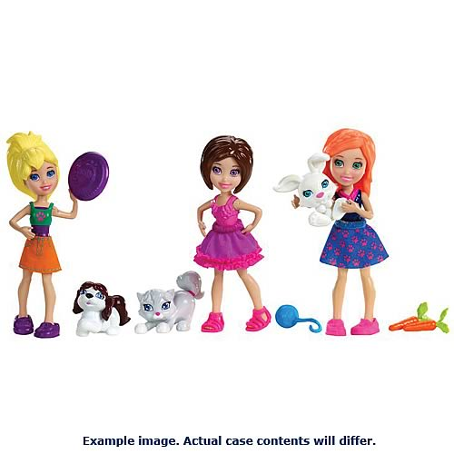 Polly Pocket Doll and Pet Case