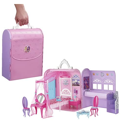 barbie princess and the popstar princess dollhouse playset. Black Bedroom Furniture Sets. Home Design Ideas