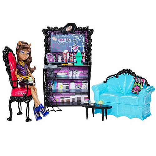 Monster High Coffin Bean and Clawdeen Wolf Playset