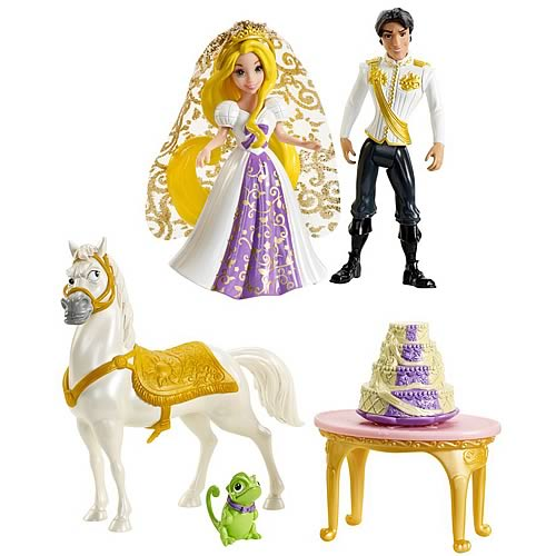 Disney Tangled Rapunzel's Wedding Party Dolls