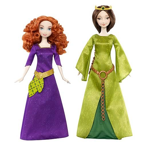 Disney Brave Queen Elinore and Merida Dolls Set