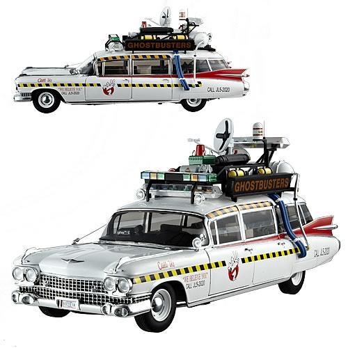 Ghostbusters 2 Ecto-1A Hot Wheels Elite 1:18 Scale Vehicle