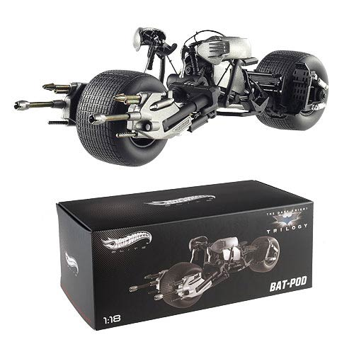 Dark Knight Rises Batpod Hot Wheels Elite 1:18 Scale Vehicle