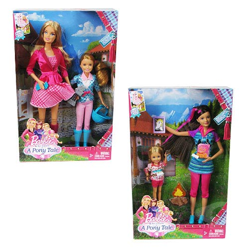 Barbie and Her Sisters in a Pony Tale Doll 2-Pack Case