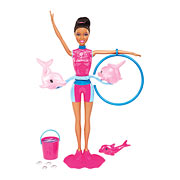 Barbie I Can Be a Dolphin Trainer African American Doll Set