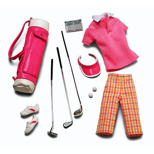 Barbie Look Pink On The Green Fashion Doll Accessory Pack