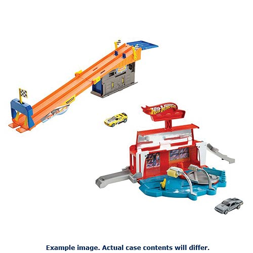 Hot Wheels Ready to Play Garage and Car Wash Playset Case