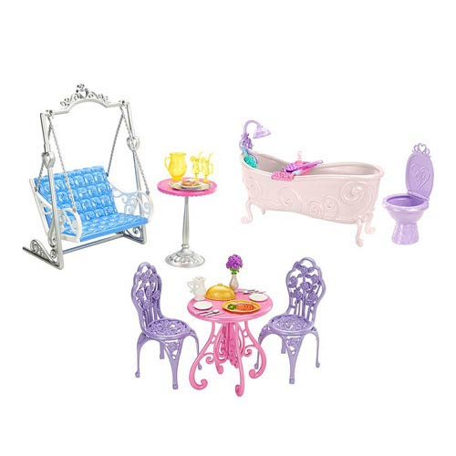 Disney Princess Doll Royal Castle Room Furniture Case