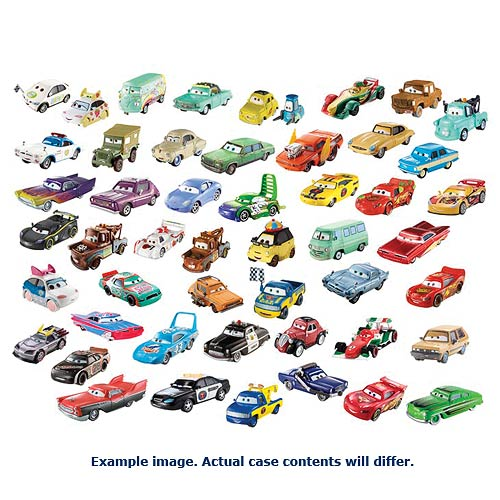 Cars Character Cars 1:55 Scale Vehicles Wave 7 Case