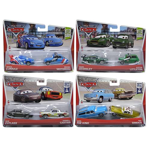 Cars Character Car Vehicle 2-Pack Case