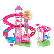 Barbie Caucasian Pet Driver Doll Playset