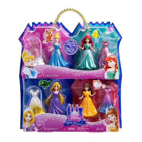 Disney Princess MagiClip Doll 4-Pack Gift Set