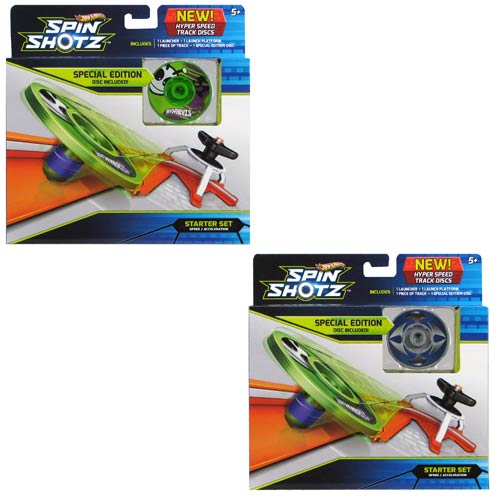 Hot Wheels Spinshotz HyperDisk Starter Playset 2-Pack Case