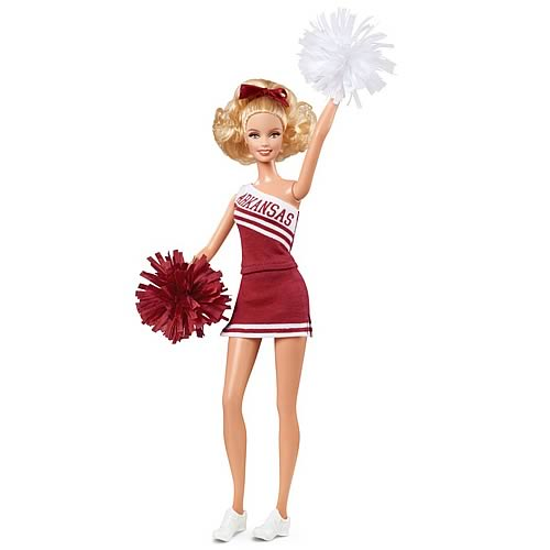 Barbie University of Arkansas Caucasian Cheerleader Doll