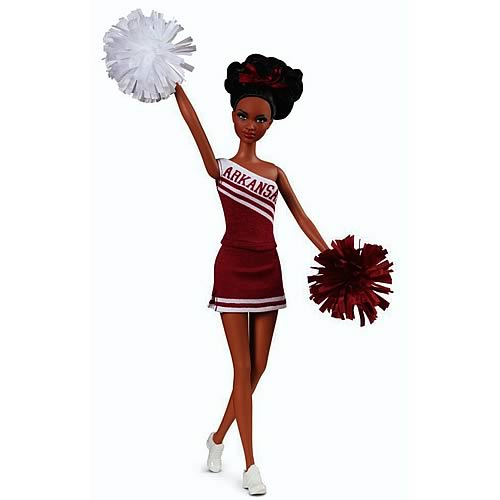 Barbie University of Arkansas AA Cheerleader Doll