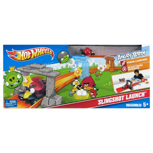 Hot Wheels Angry Birds Slingshot Track Playset