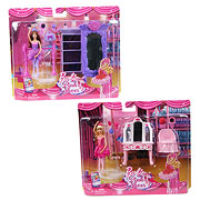 Barbie In the Pink Shoes Small Doll Furniture Pack Case