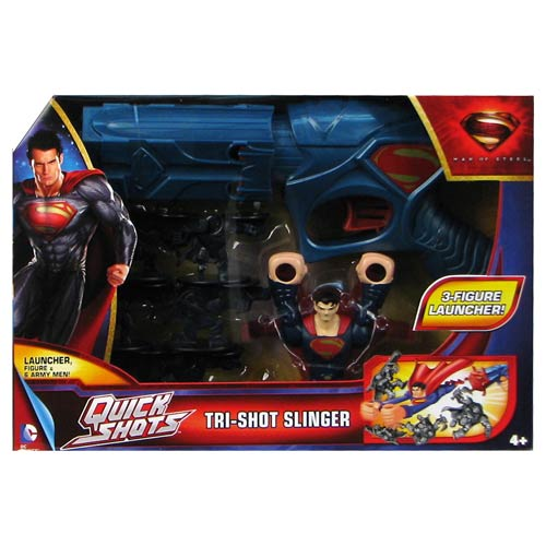 Superman Man of Steel Quick Shots Launcher with Figures