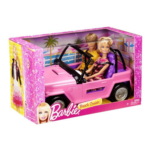 Barbie and Ken Doll and Beach Cruiser Vehicle Set