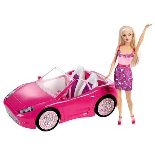 Barbie Doll And Glam Convertible Vehicle Set