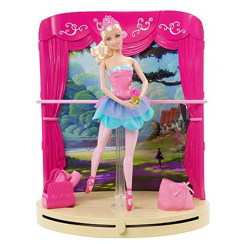 Barbie in the Pink Shoes Ballet Studio and Stage Playset