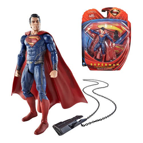 Superman Man of Steel Movie Masters Superman with Key Figure