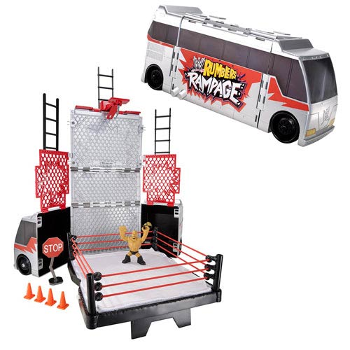 WWE Rumblers Transforming Tour Bus Playset